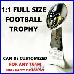11 Full Size Replica Super Bowl Vince Lombardi Trophy Cup Custom Any Team Year