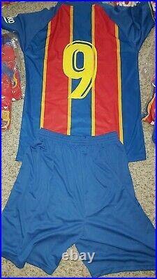 18 Mens Football full Kit team adult Barcelona Adult replica kit numbered