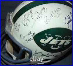 1969 New York Jets Super Bowl Champs Team Signed Full Size Helmet Steiner COA