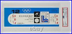 1980 Olympics Hockey Full Ticket Feb. 12th Team USA vs. Sweden PSA