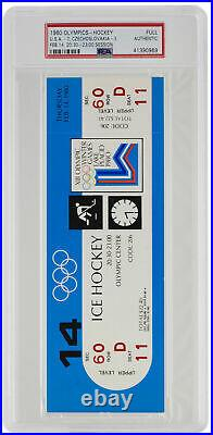 1980 Olympics Hockey Full Ticket Feb. 14th Team USA vs. Czech PSA
