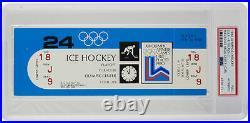 1980 Olympics Hockey Full Ticket Feb 24 Team USA vs. Finland PSA