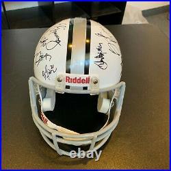 2011 New York Giants Super Bowl Champs Team Signed Full Size Helmet Fanatics COA