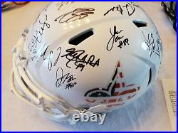 2015 NEW ORLEANS SAINTS team signed helmet JSA COA Full LOA DREW BREES