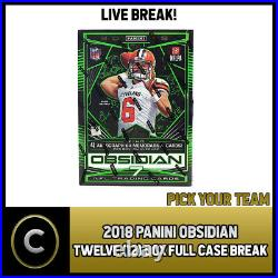 2018 Panini Obsidian Football 12 Box (full Case) Break #f076 Pick Your Team