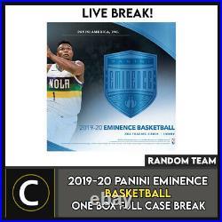 2019-20 Panini Eminence Basketball 1 Box (full Case) Break #b546 Random Teams