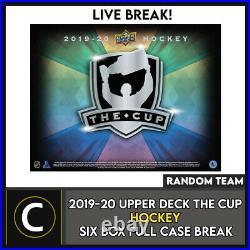 2019-20 Upper Deck The Cup Hockey 6 Box (full Case) Break #h1072 Random Teams