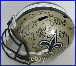 2019 New Orleans Saints team signed full size football helmet COA exact proof