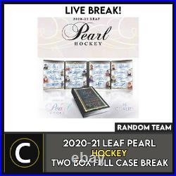 2020-21 Leaf Pearl Hockey 2 Box (full Case) Break #h1219 Random Teams