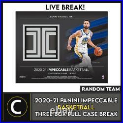 2020-21 Panini Impeccable Basketball 3 Box Full Case Break #b606 Random Teams