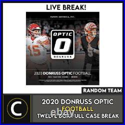 2020 Panini Donruss Optic Football 12 Box (full Case) Break #f623 Random Teams