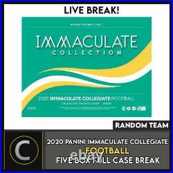 2020 Panini Immaculate Collegiate 5 Box (full Case) Break #f531 Random Teams