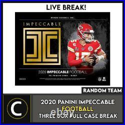2020 Panini Impeccable Football 3 Box (full Case) Break #f604 Random Teams