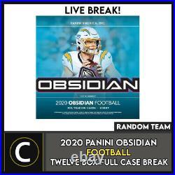 2020 Panini Obsidian Football 12 Box (full Case) Break #f615 Random Teams
