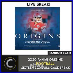 2020 Panini Origins Football 16 Box (full Case) Break #f547 Random Teams