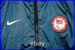 $299.99 Nike Lab Official Paralympic Team USA Full Zip Midlayer Blue Jacket L