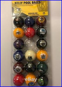 49696 Nrl Kelly Full Set Of 16 Pool Balls Team Logo
