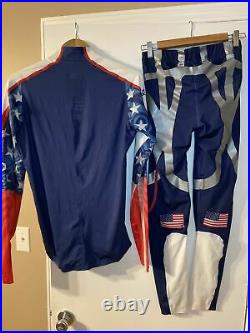 Adidas Powerweb Team USA Biathlon Olympic Full Body Compression Suit Vintage Med