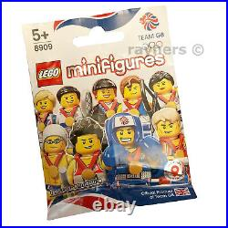 (All 9 Full Set Sealed) LEGO Team GB London 2012 Olympic Minifigures 8909
