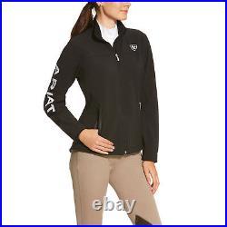 Ariat Ladies New Team Black Softshell Full-Zip Jacket 10019206
