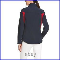 Ariat Ladies New Team Navy & Red Softshell Full-Zip Jacket 10019208