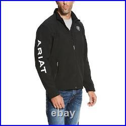 Ariat Men's New Team Black Full-Zip Softshell Jacket 10019279