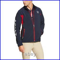 Ariat Men's New Team Navy & Red Full-Zip Softshell Jacket 10019280