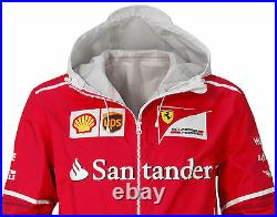 Authentic 2017 Puma Scuderia Ferrari Team Full Zip Hooded Rain Jacket 762184-01
