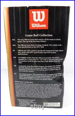 Authentic Wilson NFL Full Grain Leather Football New in Box