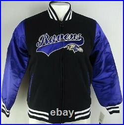 Baltimore Ravens NFL Team Apparel Women's Black & Purple Full Zip Varsity Jacket