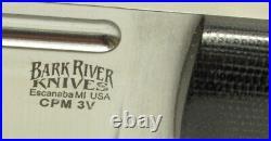 Bark River Knives Bravo Squad Leader, CPM-3V, Black Canvas Micarta, Hike, Camp