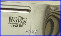 Bark River Knives Bravo Squad Leader, CPM-3V, Brown & Black Sure Touch Matte