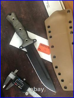 Busse Team Gemini Light Brigade knife OD Green Sleeve-with Kydex Sheath. 26