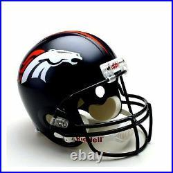 Denver Broncos NFL Team Logo Riddell Deluxe Full Size Football Helmet