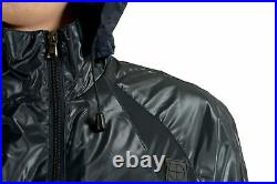 Emporio Armani EA7 Italia Team Men's Blue Full Zip Hooded Windbreaker Jacket