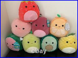 FULL 8 Fruit Squad Squishmallow Collection