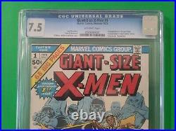 Giant Size X-Men 1 CGC 7.5 2nd Full Wolverine 1975 1st New X-Men Team GSX