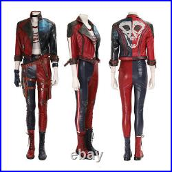 HZYM Suicide Squad Kill The Justice League Harley Quinn Cosplay Costume Leather