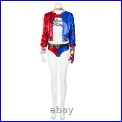 Harley Quinn Cosplay Jacket Suicide Squad Costume Halloween Outfits Full Set