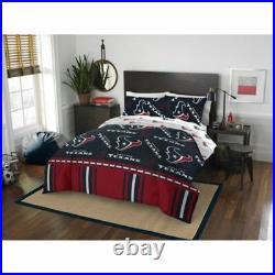 Houston Texans NFL Full 5 Piece Comforter Bedding Team Logo Bed in Bag Set