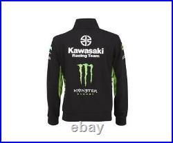 Kawasaki MX Racing Team KX Sweatshirt Black Green Monster Full Zip Jumper NEW
