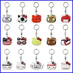 Kidrobot Hello Kitty Team USA Vinyl Full Case Of 30 Blind Keychain Figures NEW