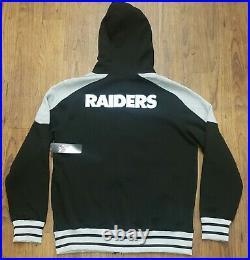 Las Vegas Raiders NFL Team Apparel Full Zip Jacket Size Large