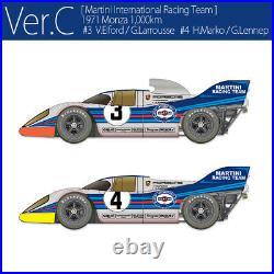 MFH 1/43 Porsche 917K 1971 Ver. C Martini Team Monza #3/4 (Full Detail kit)