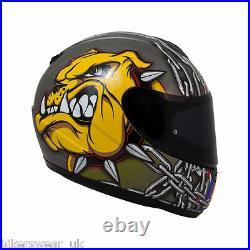 MT Thunder Squad Skull Bull dog K9 Motorbike/motorcycle full face helmet