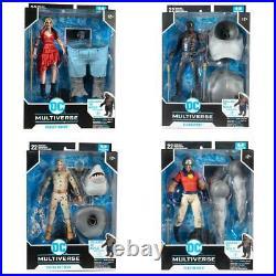 McFarlane DC Multiverse SUICIDE SQUAD KING SHARK BAF Full Set SHIPS 8/2