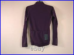 Men's Rapha Pro Team Long Sleeve Full Zip Thermal Jersey Size S Purple
