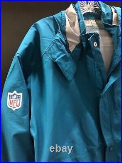 Miami Dolphins Nike Team Issued Full Zip Rain/snow Jacket Brand New Sz-large