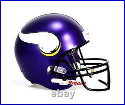 Minnesota Vikings NFL Team Logo Riddell Deluxe Full Size Football Helmet