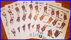 NHL 2019-20 ALL TEAMS HOME UNIFORM FULL SET compatible Coleco Eagle hockey table